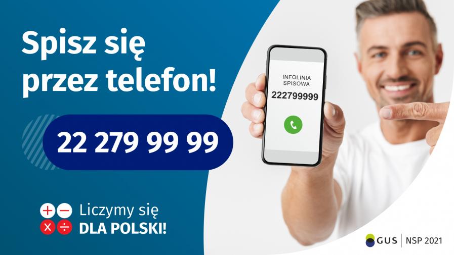 Narodowy Spis Powszechny - spisz się przez telefon